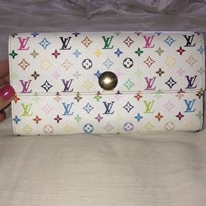 Euc Louis Vuitton multicolore Sarah wallet